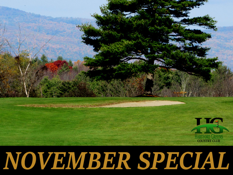November Golf Special at Hartford Greens Country Club