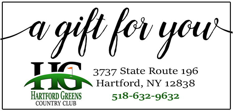 Best golf gift is a Hartford Greens Country Club gift certificate