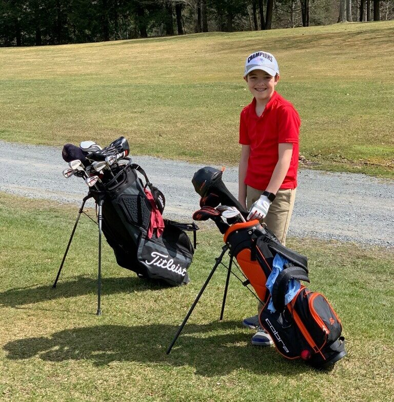 Joe Happy, a Hartford 7th Grader playing on the Fort Ann/Hartford Varsity golf team almost had an undefeated season