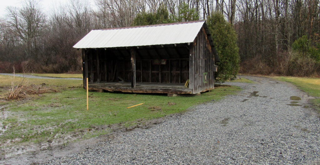 Course Under Construction- New location of the shed.