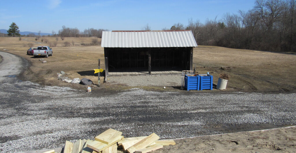 Course Under Construction- Previous location of the shed.