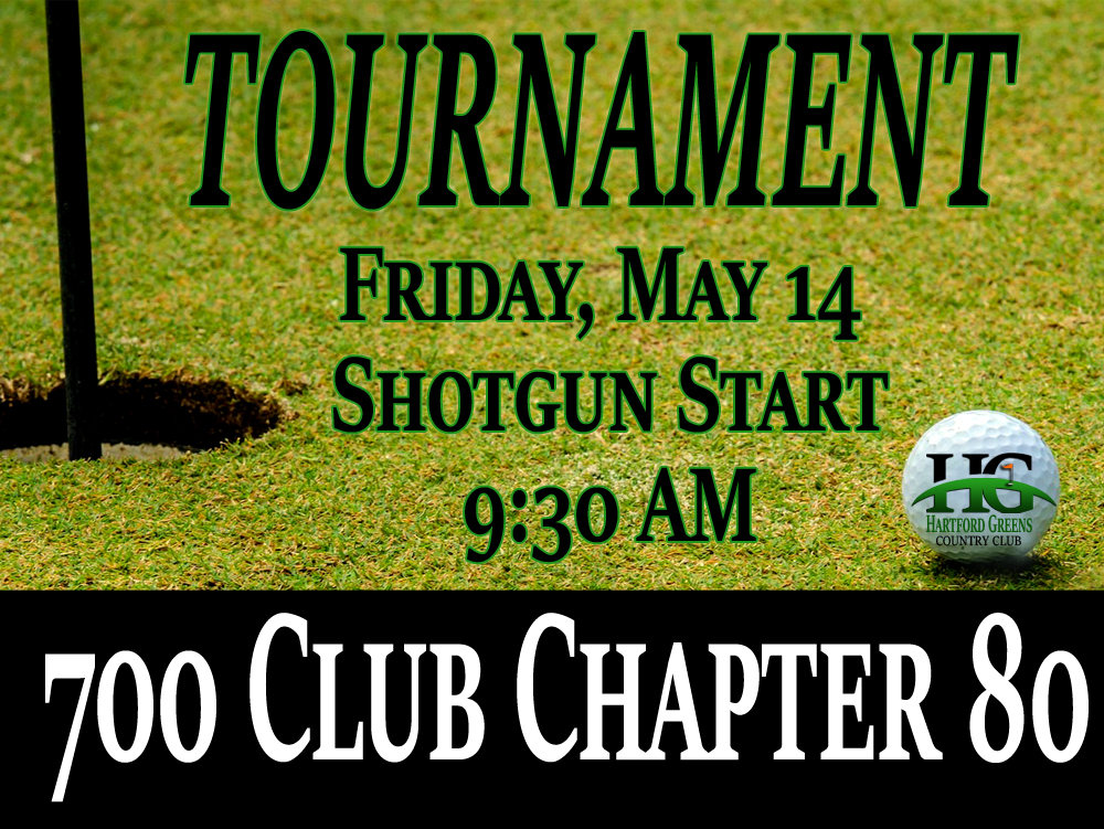 700 Club Chapter 80 Golf Tournament at Hartford Greens Country Club