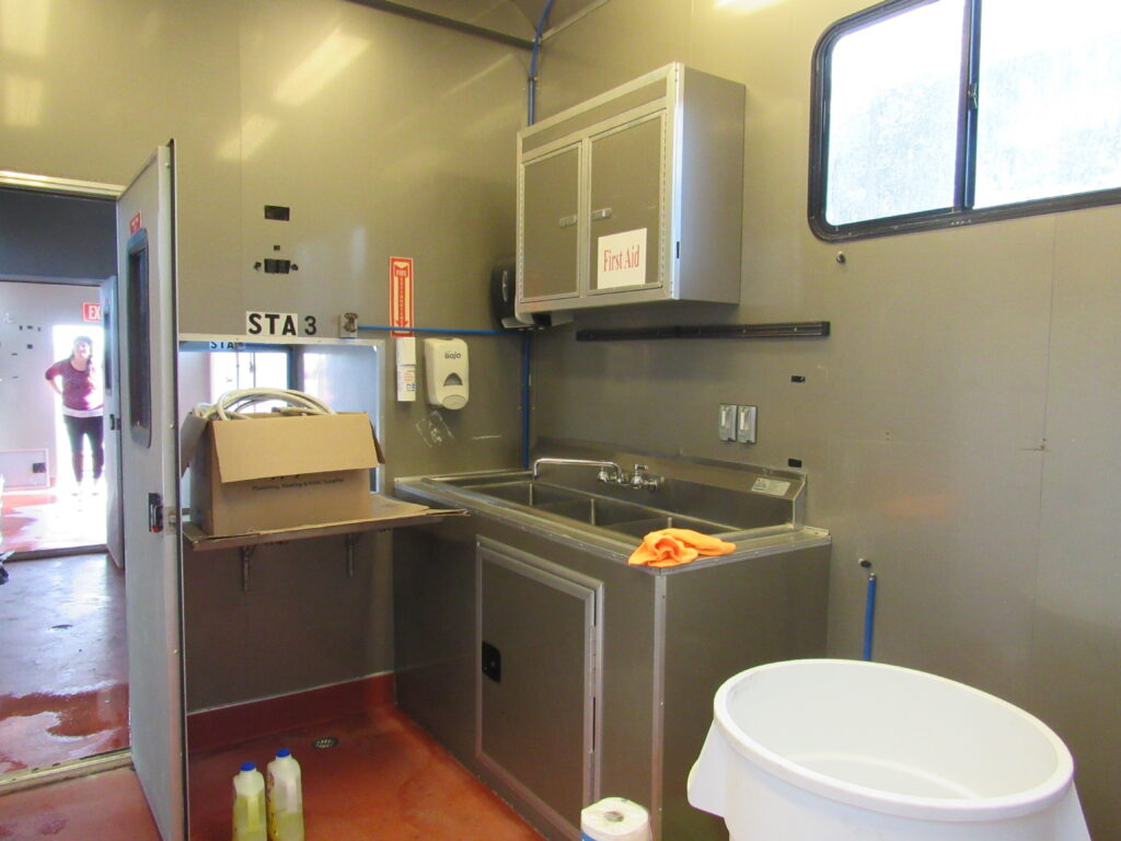 look inside the food concession truck at Hartford Greens Country Club
