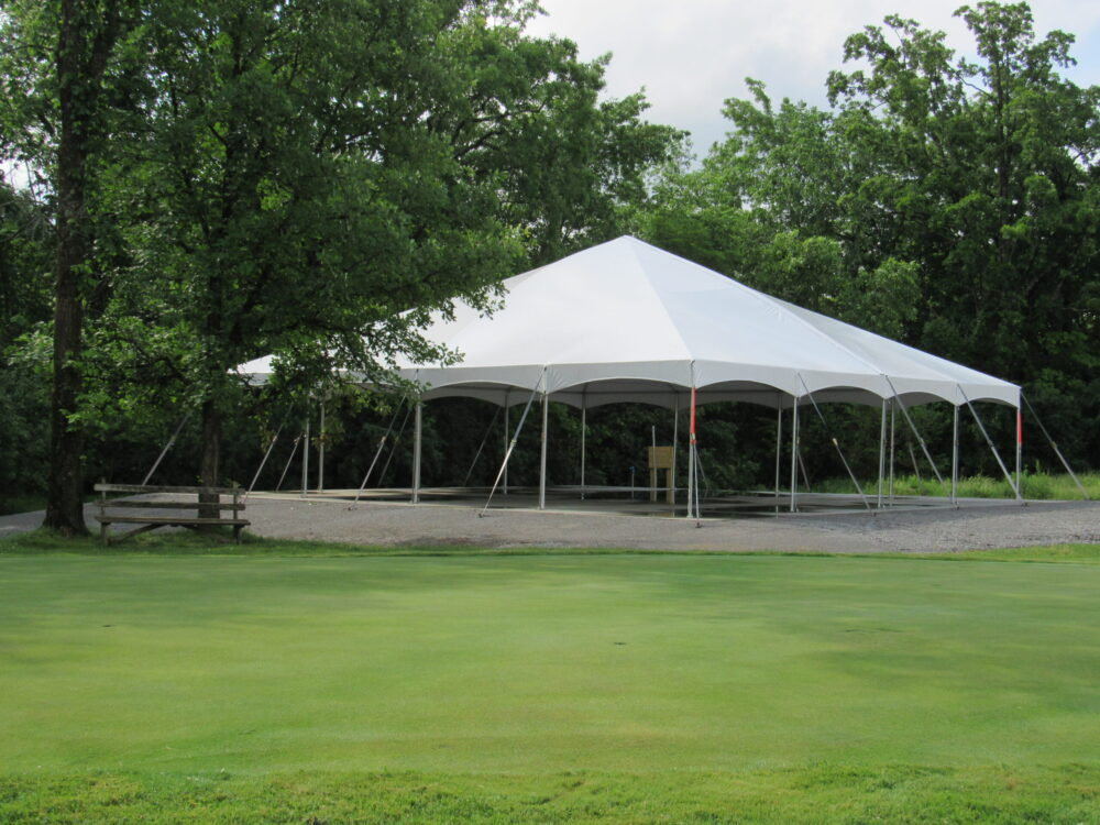 event tent at Hartford Greens Country Club