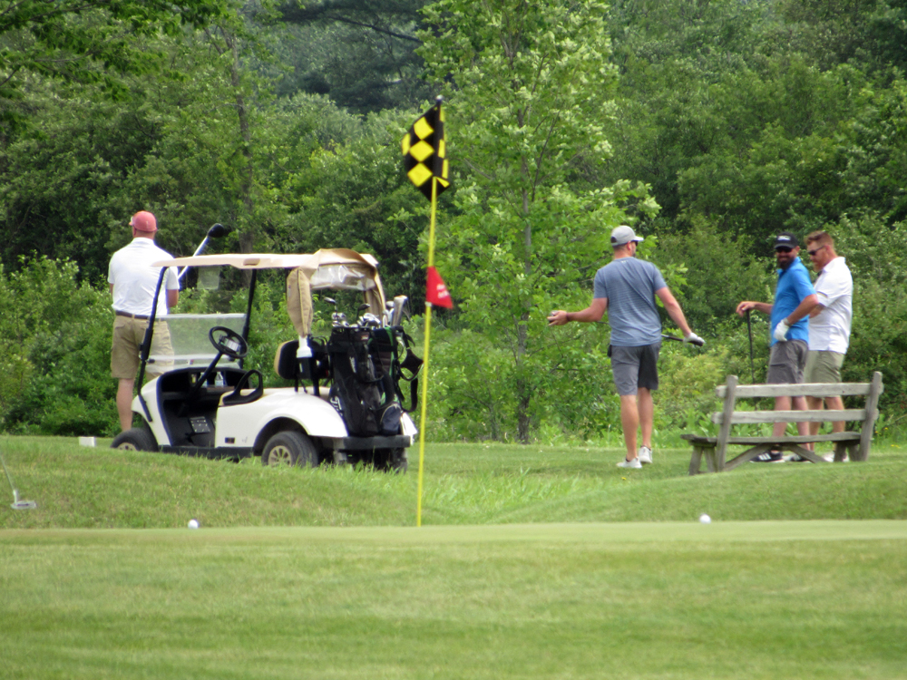 Team Happy took first place in the Geraghty Fundraiser golf tournament on June 26, 2021