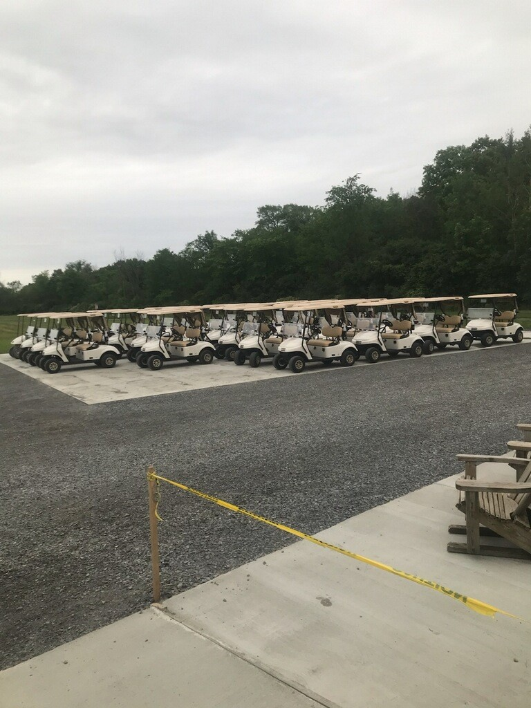 Hartford Greens Country Club's brand new fleet of 2021 EZ-Go Freedom TXT fuel injected golf carts