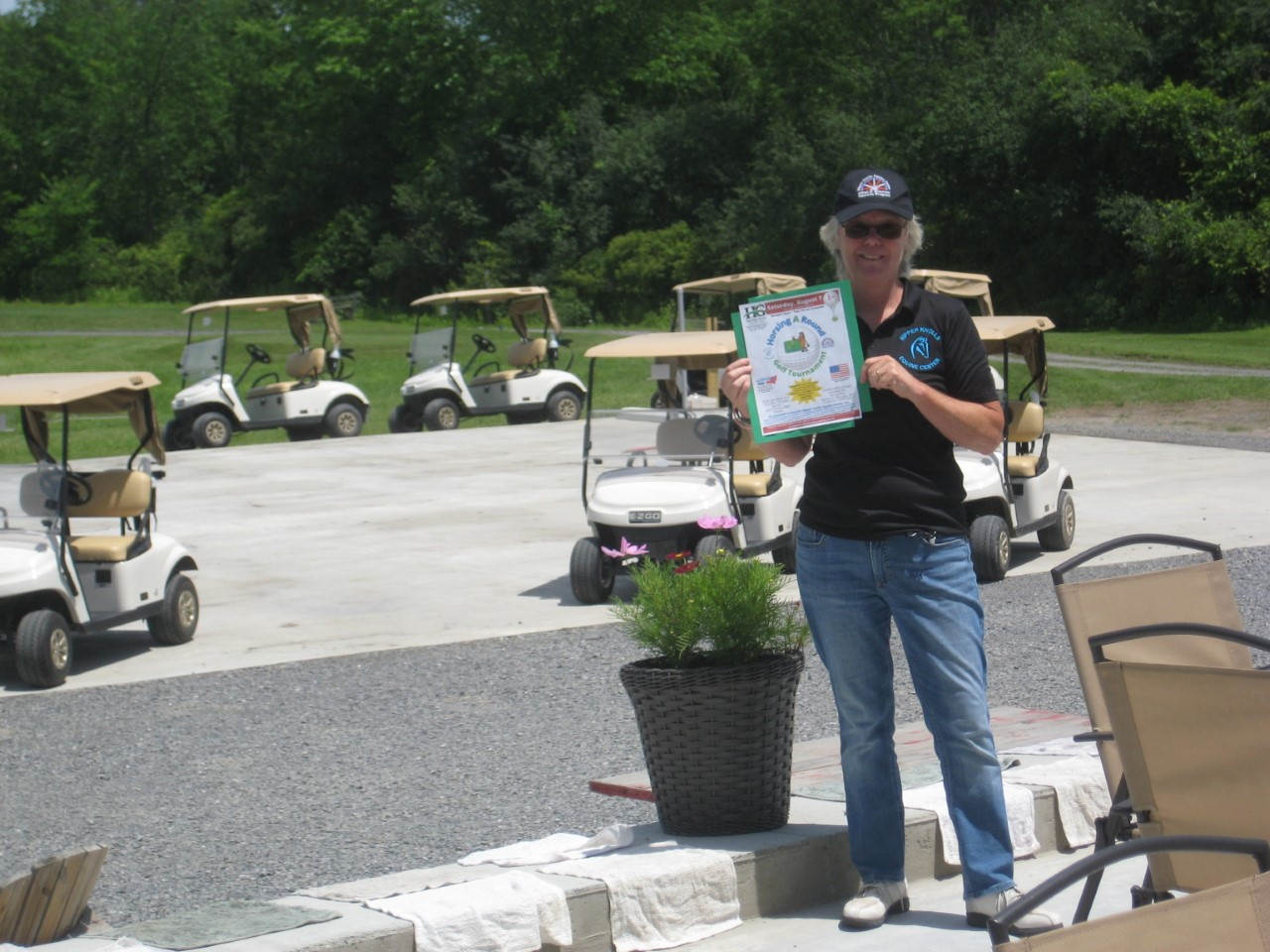 Contact Roxanne Peck to register for the Nipper Knolls Golf Tournament to be held at Hartford Greens Country Club on August 7, 2021.