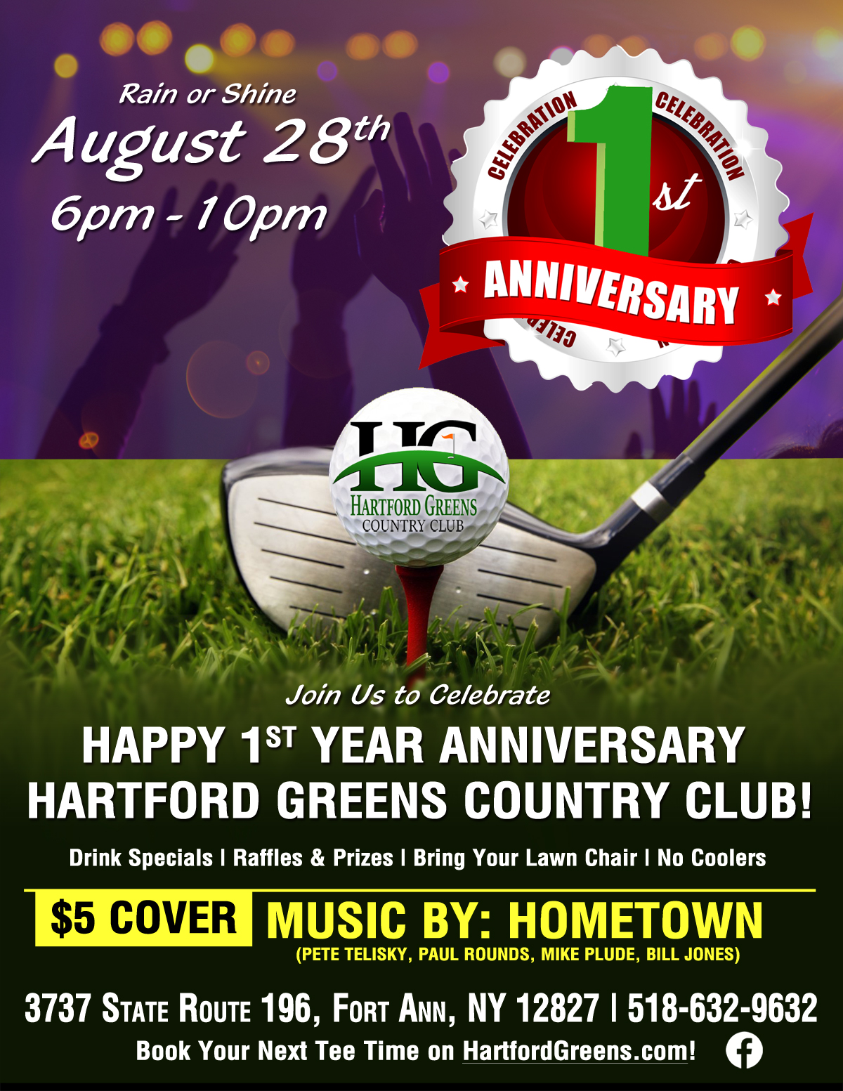 Hartford Greens Country Club's 1st Anniversary Celebration Event