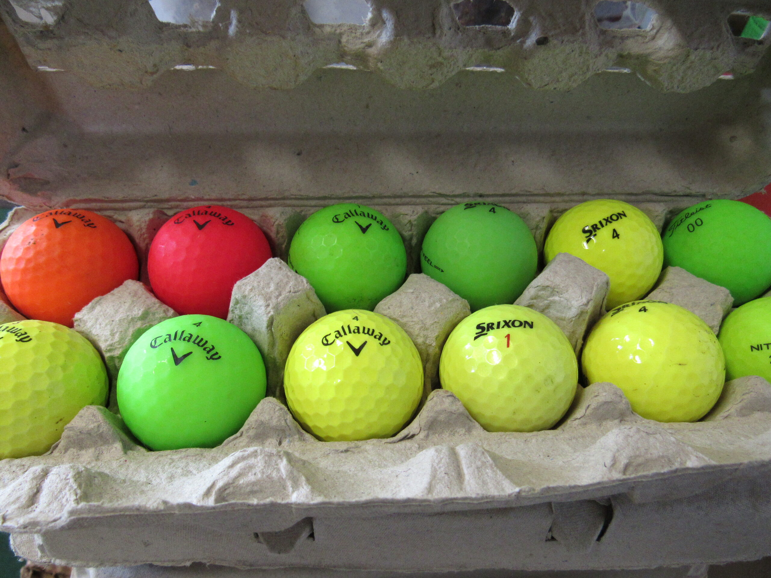 Dozen golf balls