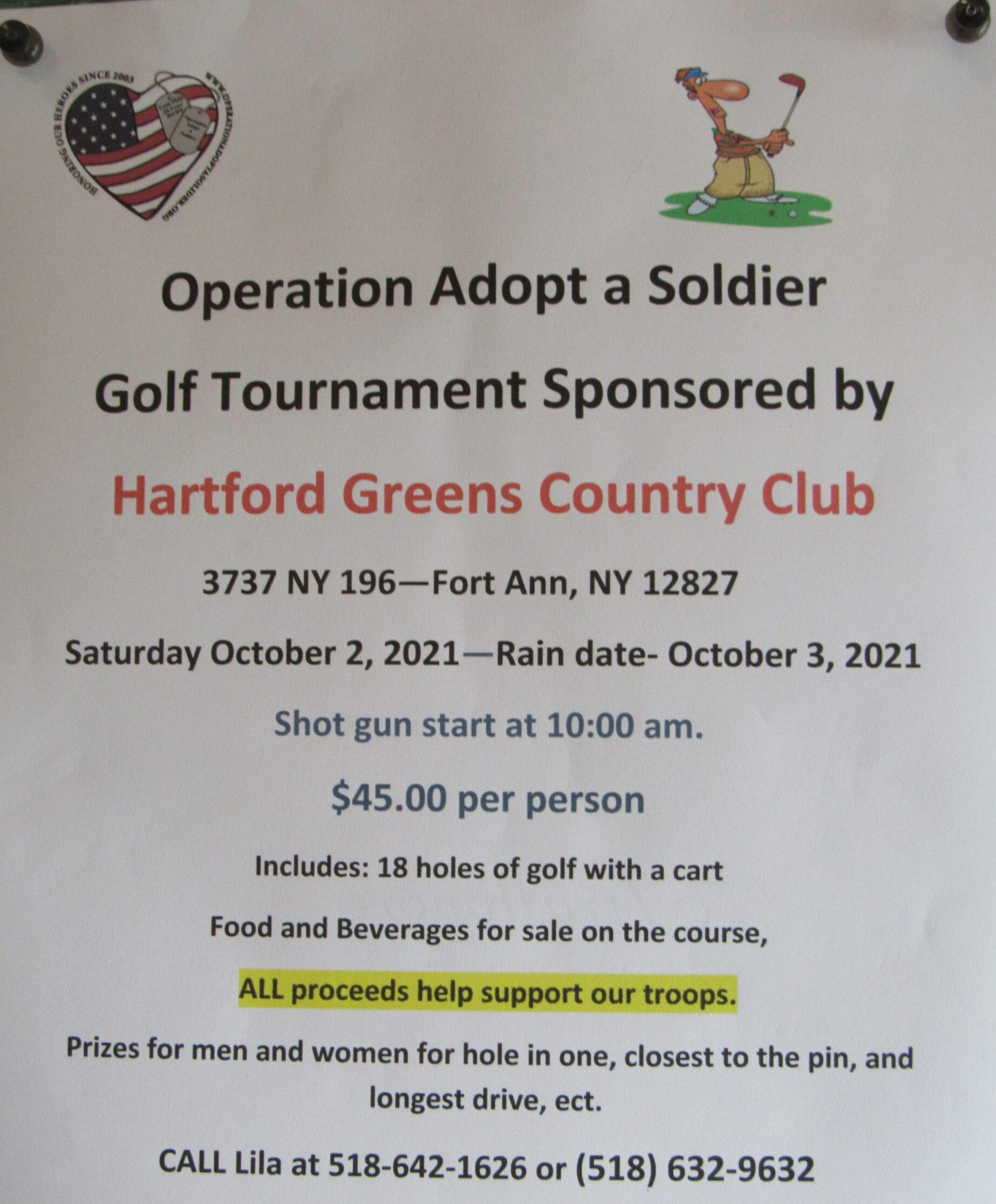 Operation Adopt a Solider Golf Tournament