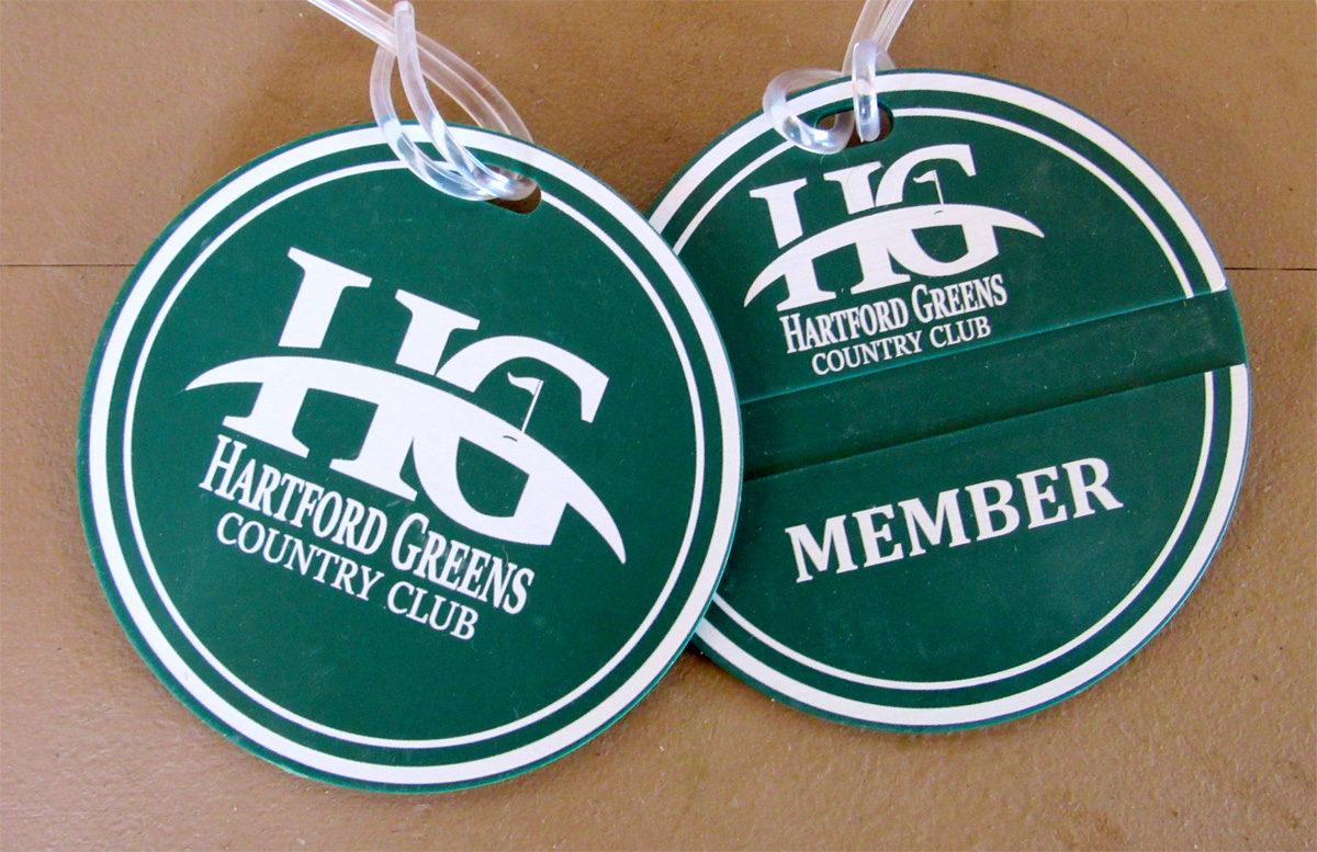 Hartford Greens Membership bag tags